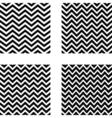 set of seamless zigzag pattern vector image