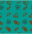 sport pattern seamless set vector image