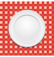 Tablecloth and plate vector | Price: 1 Credit (USD $1)