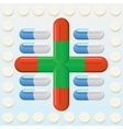 tablets and pills vector image vector image
