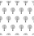 tree hand drawn patterns uneven-05 vector image vector image
