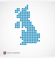uk map and flag icon vector image
