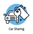 vehicle or car sharing share economy concept vector image