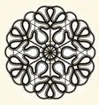 Victorian style decorative circle design vector image vector image