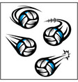 volleyball swoosh set 4 vector image