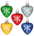 watercolor hand drawn heart shaped christmas tree vector image