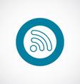 WiFi icon bold blue circle border vector image
