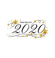 2020 happy new year lettering banner design with vector image vector image