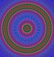 Abstract oriental star mandala fractal art vector image vector image