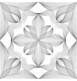 abstract seamless floral linear pattern arabic vector image vector image