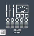 admin panel thin line icon isolated vector image vector image