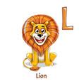 alphabet letter l lion vector image vector image