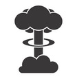 atomic bomb silhouette design on white background vector image