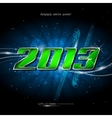 banner happy new year 2013 vector image vector image