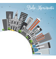 belo horizonte skyline with gray buildings vector image vector image