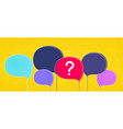 big colorful speech bubbles vector image