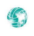 blue halftone volleyball vector image vector image