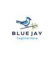 blue jay bird logo design vector image
