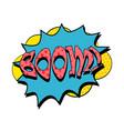 boom speech bubble in retro style vector image vector image