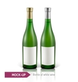bottles of white wine vector image vector image
