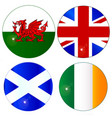 buttons of the uk and eire vector image vector image