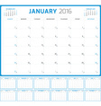 Calendar Planner 2016 Design Template Set of 12 vector image
