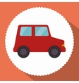 car red toy icon vector image vector image
