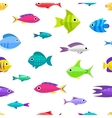 Cartoon fish collection seamless pattern vector image vector image