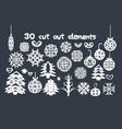 christmas handmade cut out collection vector image vector image