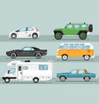 city auto vehicle isolated set vector image vector image