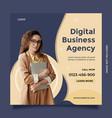 creative idea and modern digital business agency vector image
