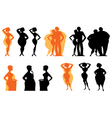 Dieting silhouettes vector | Price: 1 Credit (USD $1)