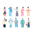 different medical characters man doctors nurse vector image vector image