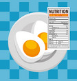 eggs frieds with nutrition facts vector image vector image