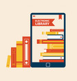 electronic library poster vector image