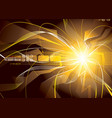 energy sparks vector image vector image
