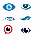 Eye logo icon download vector image vector image