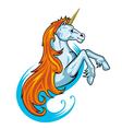 fantasy unicorn vector image vector image
