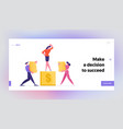 finance and career success website landing page vector image vector image