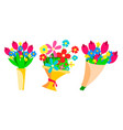 flowers bouquets set beautiful floral gift vector image vector image