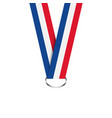 french ribbon for medal french tricolor vector image