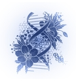 Graphic DNA structure vector image vector image