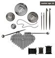 knitting set vector image vector image