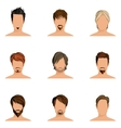 Man hair style set vector image vector image