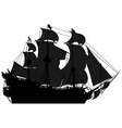 marine theme silhouette sailboat vector image