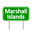 Marshall Islands road sign vector image vector image