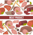 meat products seamless pattern herbs and spices vector image vector image