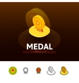 Medal icon in different style vector image vector image