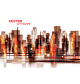 Modern cityscape background vector image vector image