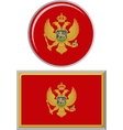 Montenegrin round and square icon flag vector image vector image